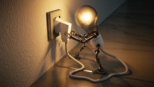 elektřina v žárovce